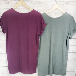 Divided Set of 2 Extra Long T-Shirts